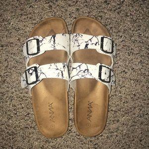 Marble Print Sandals